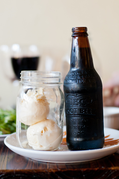 Root Beer Float at Straw